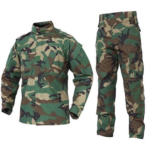 Costum US ACU Jacheta+Pantaloni Rip Stop woodland