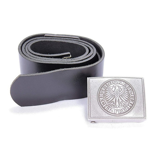 GERMAN LEATHER SERVICE BELT WITH BUCKLE