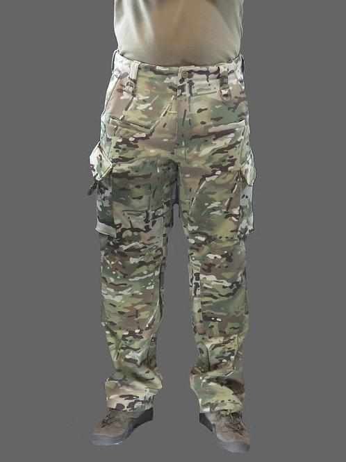 Pantaloni Softshell din lana imblanita multicam