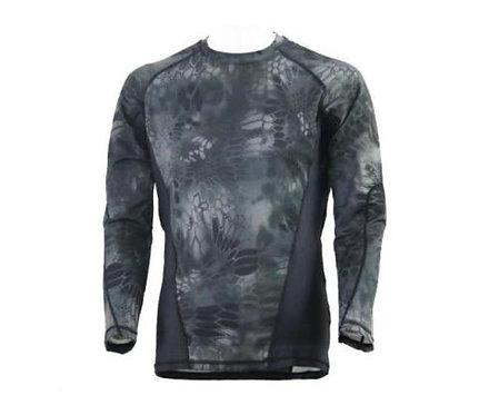 Tricou cu maneca lunga Camuflaj coolmax respirabil kryptek negru