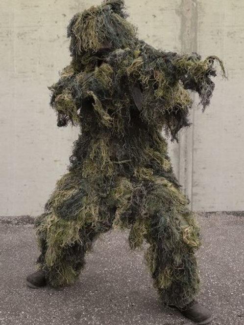 """Costum Ghillie din 4 parti """"Anti Fire"""", Woodland"""