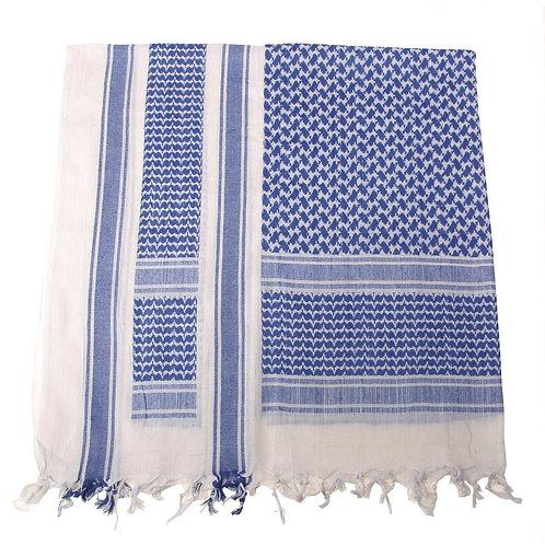 Batic Shemagh model PLO, culori albastru-alb