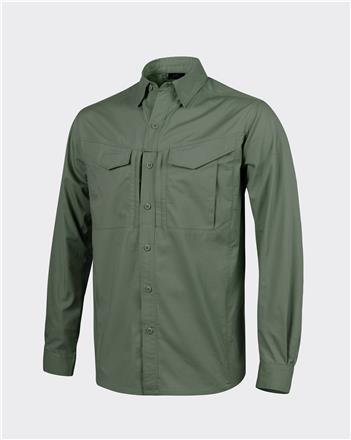 DEFENDER Mk2 Shirt long sleeve® - PolyCotton Ripstop - Olive Green