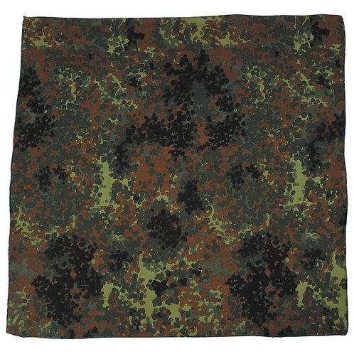Bandana clasica din bumbac, marime 55 x 55 cm, culori flecktarn