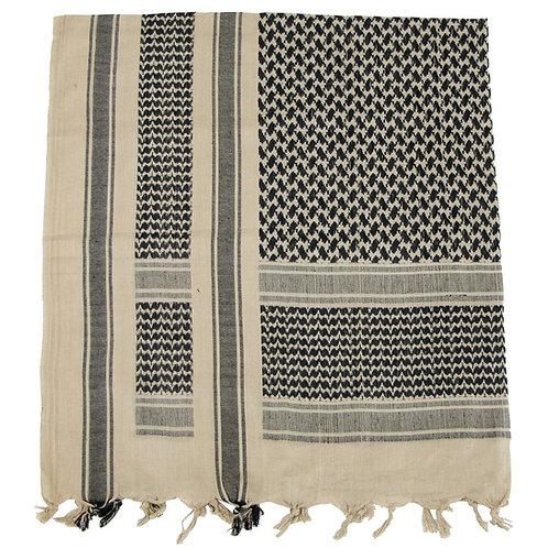 Batic Shemagh model PLO, culori gri - negru