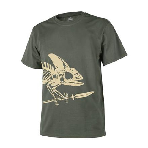 Tricou Full Body Skeleton - Olive Green
