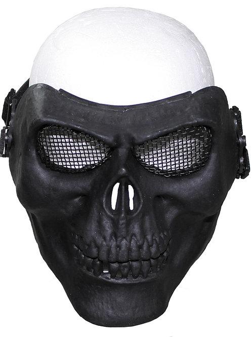 Masca de fata tip craniu, neagra, deco