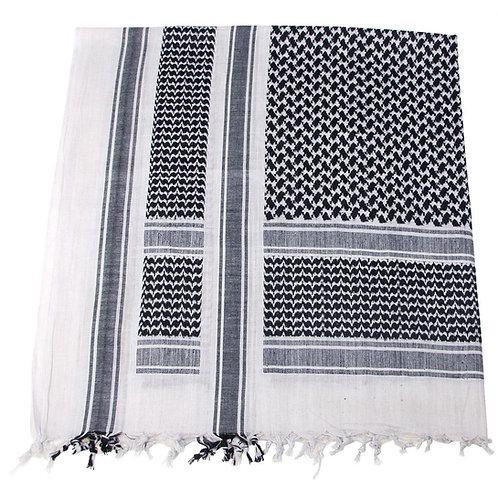 Batic Shemagh model PLO, culori alb-negru