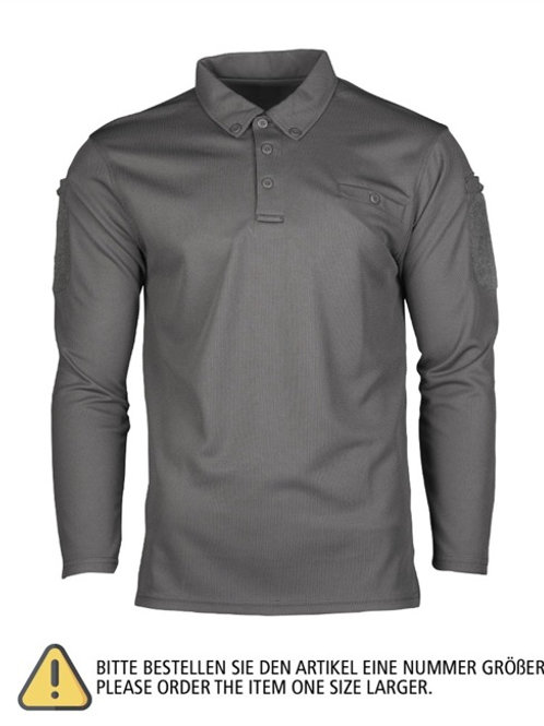 PULOVER GRI TACTICAL QUICK DRY gray
