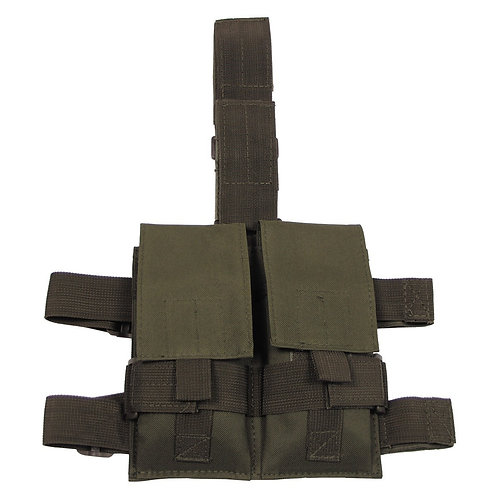 Geanta, toc munitie picior - verde