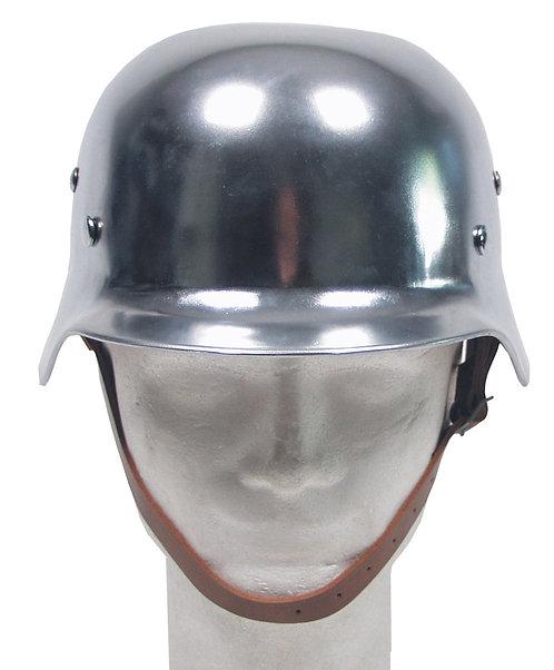 Steel Helmet, WW II, crom, interior piele- reproducere