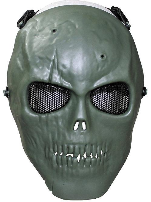 Masca de fata tip craniu OD Verde, protectie completa, deco