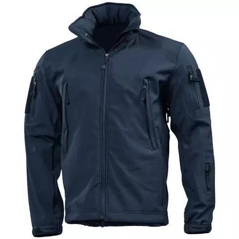 Jacheta Softshell din lana imblanita navy blue