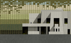 "2. Ennis House de Frank Lloyd White y ""Strings of Life"" de Derrick May.jpg"