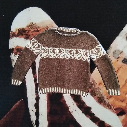 Pull Ethnique en laine mérinos