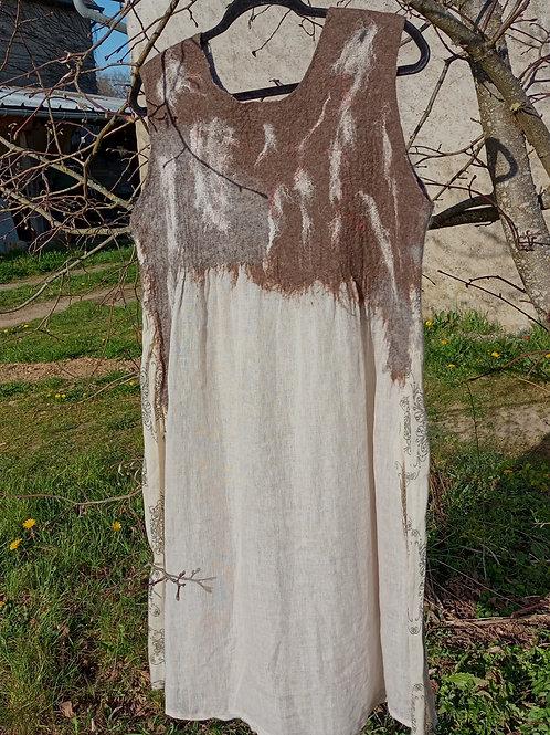Robe en laine et lin