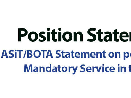 "BOTA/ASIT Position Statement: ""Mandatory Service Statement"""