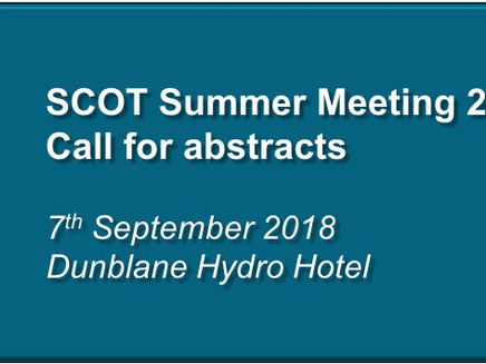 SCOT Summer Meeting 2018: Abstract submission open