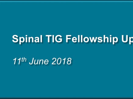 Spinal Surgery Interface Group – Expression of Interest Request (Update)