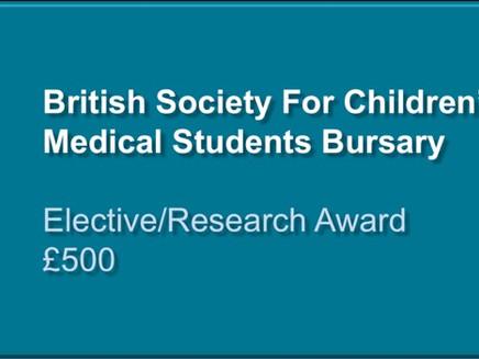 BSCOS Medical Student Bursary