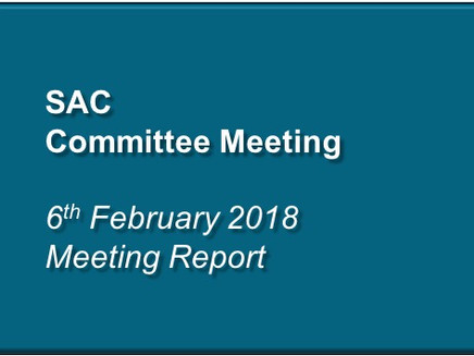 Specialty Advisory Committee Meeting – 6th February 2018