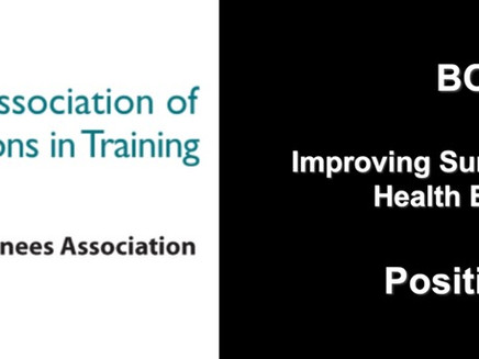 Improving Surgical Training: Letter To Health Education England