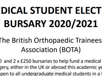 BOTA Medical Student Elective Bursaries 2019/20