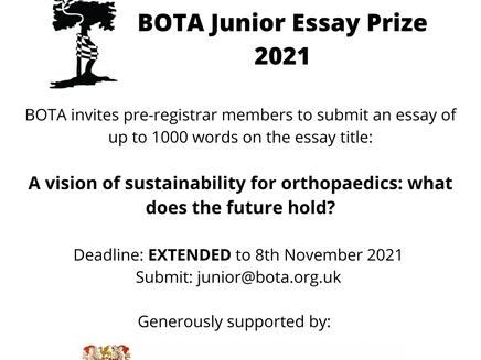 DEADLINE EXTENDED!!! For BOTA Junior Essay Prize
