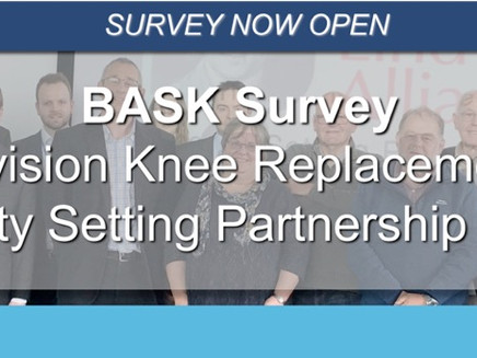 BASK Revision Knee Replacement: Priority Setting Partnership (PSP)