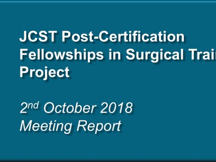 JCST Post-Certification Fellowships in Surgical Training Project