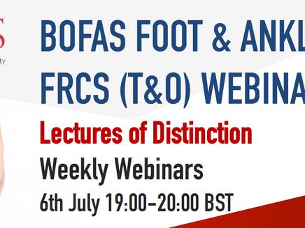 BOFAS FRCS Webinar Series