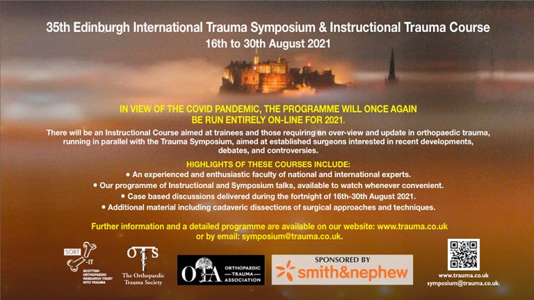 35th Edinburgh International Trauma Symposium and Instructional Trauma Course