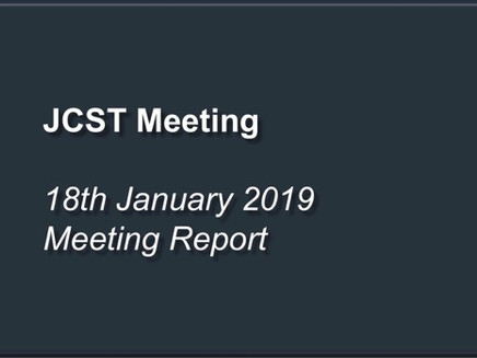 JCST Meeting Report