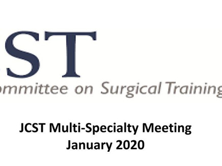 JCST Multi-Specialty Committee Meeting 21th January 2020