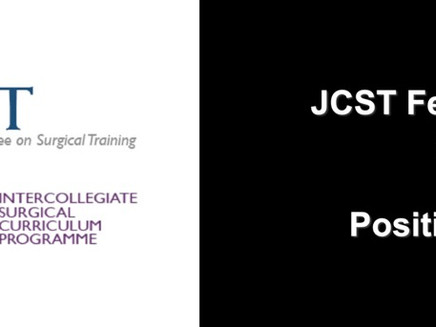 JCST Fees For Trainees 2019/20:  Position Statement