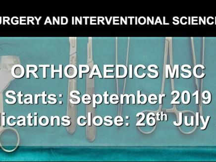UCL: Orthopaedics MSc