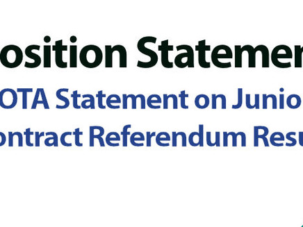 ASIT/BOTA Statement on Junior Doctor Referendum Results