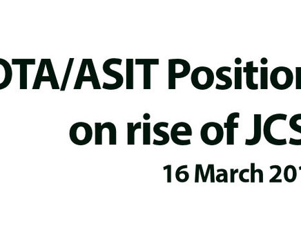 BOTA/ASIT Position Statement on Rise of JCST Fees