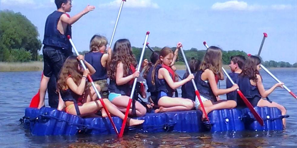 Schule: Tagesausflug zum Beetzsee Floßbau Projekt