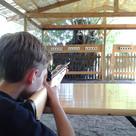 Lasergewehrschießen