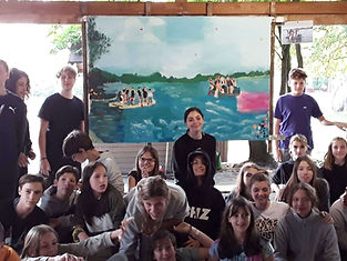 Klassenfahrt Kunstprojekt