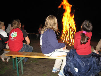 Strandparty Lagerfeuer