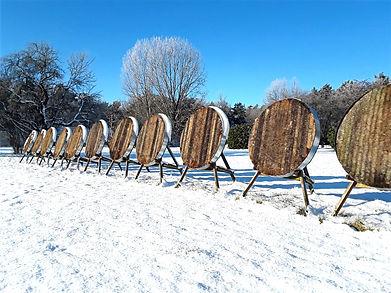 Bogenschießen Winter