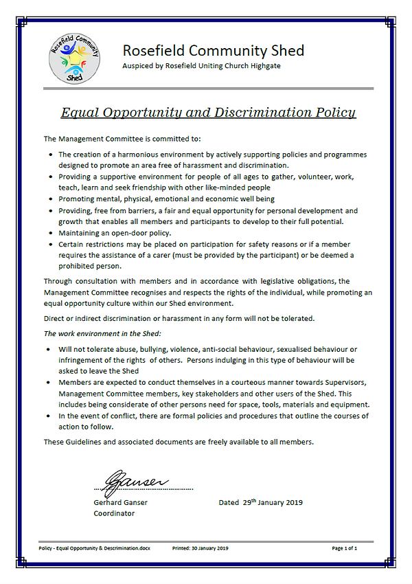 Policy - Equal Opportunity _ Descriminat