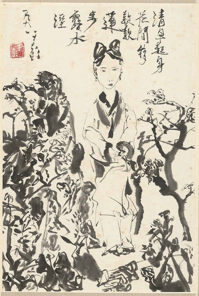 YU Peng, Wandering Through Flowers at Dawn
