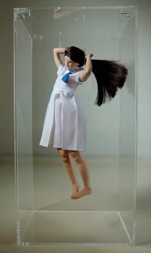 Christy CHOW, Hair Band, Wire, Clay, Paint, Fabric, Acrylic box, 30x15x10 cm, 2012