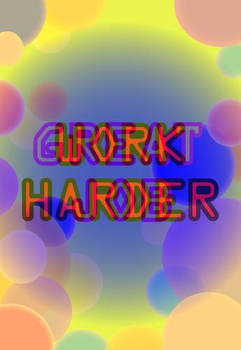Christy CHOW, Work Harder Great Job Work Harder… (Ed. 1/2), Lenticular Print on Aluminum, 49 x 36 cm, 2019