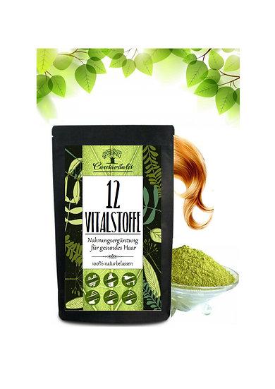 500g 12 Vitalstoffe Haarwachstum Ashwagandha Gerstengras MSM u.a.