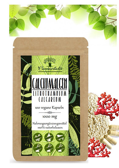 100 Basen Kapseln Calcium Lithohthamnium-calcareum Rotalgen 1000 mg