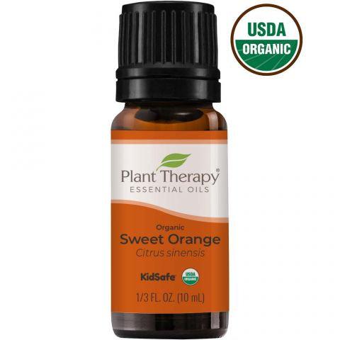 Organic Sweet Orange Essential Oil, 10ml